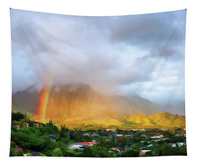 Puu Alii With Rainbow Tapestry