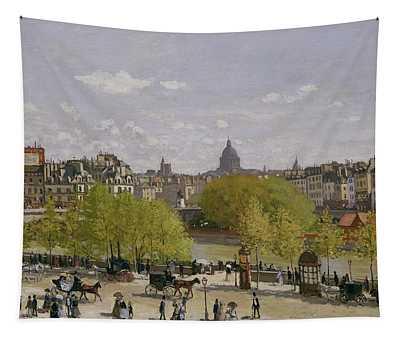 Quai Du Louvre In Paris Tapestry