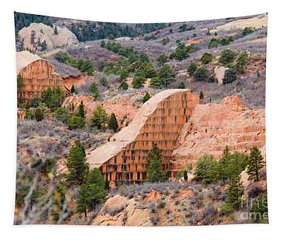 Quarry At Red Rock Canyon Colorado Springs Tapestry