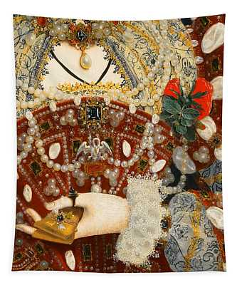 Queen Elizabeth I   Detail From The Pelican Portrait Tapestry