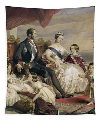Queen Victoria And Prince Albert With Five Of The Their Children Tapestry