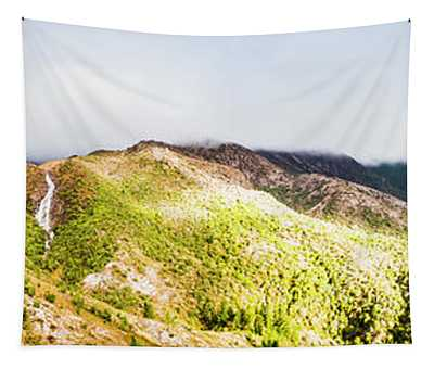 Queenstown Tasmania Wide Mountain Landscape Tapestry