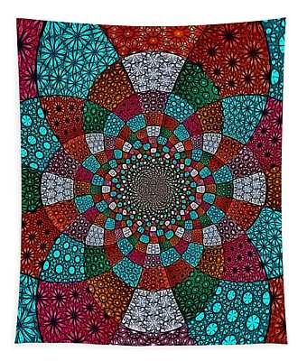 Quilted Glasswork Tapestry