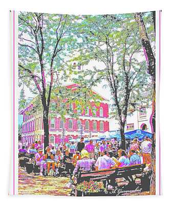 Quincy Market, Boston Massachusetts, Poster Image Tapestry