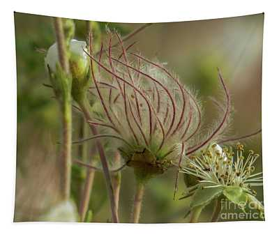 Quirky Red Squiggly Flower 2 Tapestry