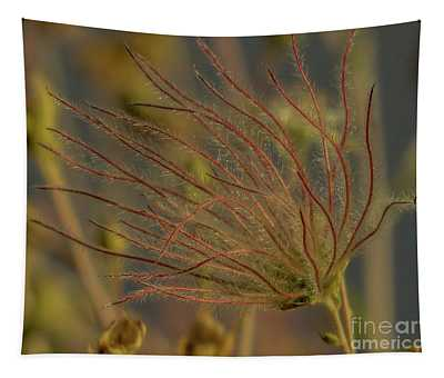 Quirky Red Squiggly Flower 4 Tapestry