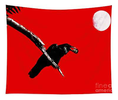 Quoth The Raven Nevermore . Red Tapestry