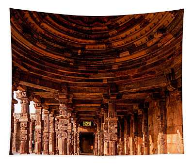 Tapestry featuring the photograph Qutub Minar by M G Whittingham