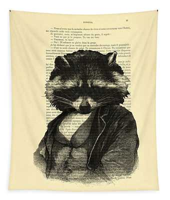 Raccoon Wall Tapestries
