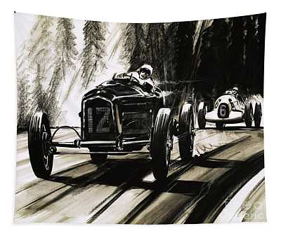 Racing On The Nurburgring Tapestry