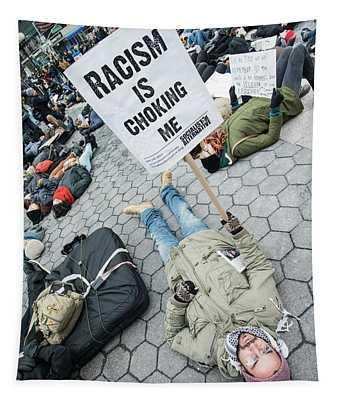 Racism Is Choking Me Tapestry