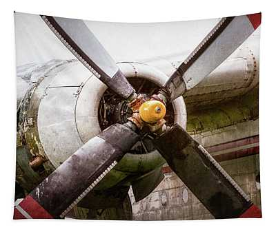 Radial Engine And Prop - Fairchild C-119 Flying Boxcar Tapestry