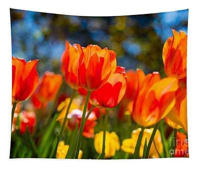 Radiant Tulips Tapestry