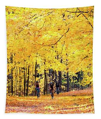 Autumn Glory On The Rail Trail Tapestry