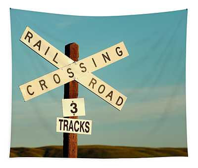 Railroad Crossing Tapestry
