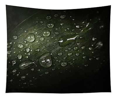 Rain Drops On Leaf Tapestry