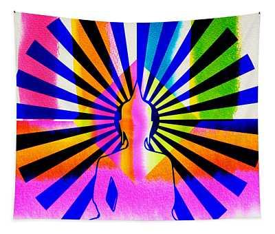 Rainbow Buddha Tapestry