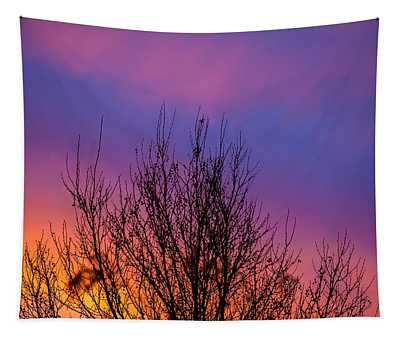 Rainbow Clouds Tapestry
