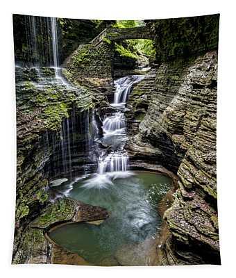 Rainbow Falls - Watkins Glen Tapestry