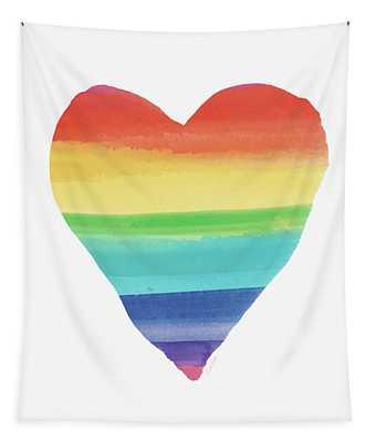 Rainbow Heart- Art By Linda Woods Tapestry