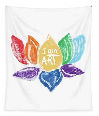 Rainbow Lotus I Am Art- Art By Linda Woods Tapestry