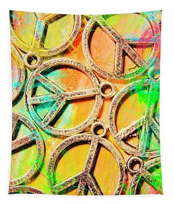 Rainbow Love Tapestry