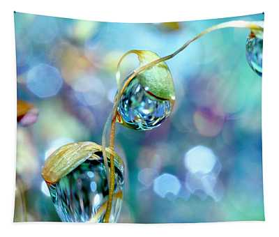 Rainbow Moss Drops Tapestry