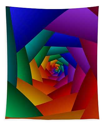 Rainbow Spiral Tapestry