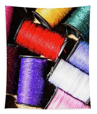 Rainbow Threads Sewing Equipment Tapestry