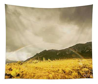 Raindrops In Rainbows Tapestry