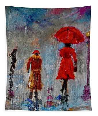 Rainy Spring Day Tapestry