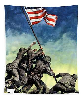 Raising The Flag On Iwo Jima Tapestry