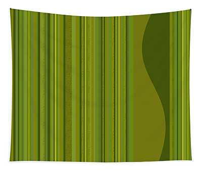 Random Stripes - Golden Green Tapestry