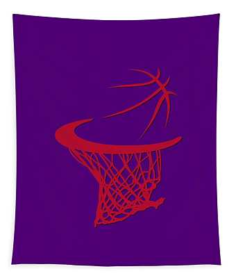 Raptors Basketball Hoop Tapestry