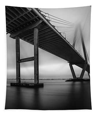 Ravenel Bridge November Fog Tapestry