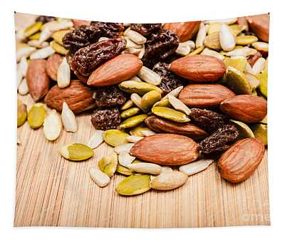 Raw Organic Nuts And Seeds Tapestry