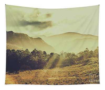 Rays Of Dusk Tapestry