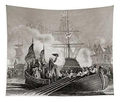Reception Of President Washington At New York Usa April 23rd, 1879 Tapestry