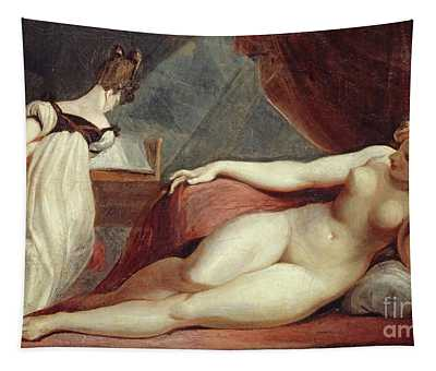 Reclining Nude And Woman At The Piano Tapestry