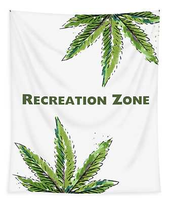 Recreation Zone Sign- Art By Linda Woods Tapestry