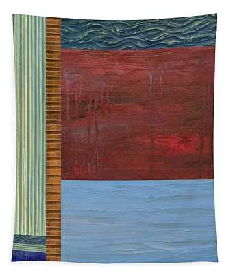 Red And Blue Study Tapestry