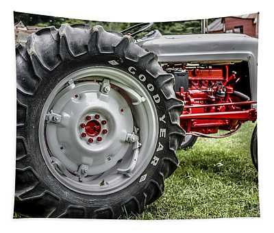 Red And White Ford Model 600 Tractor Tapestry