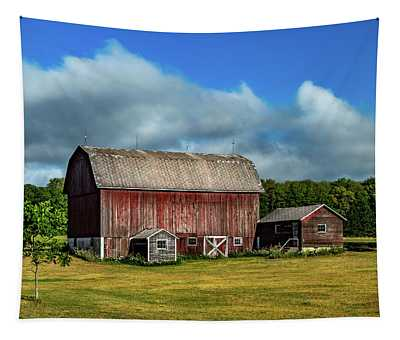 Red Barn Near Moose Jaw Junction Tapestry