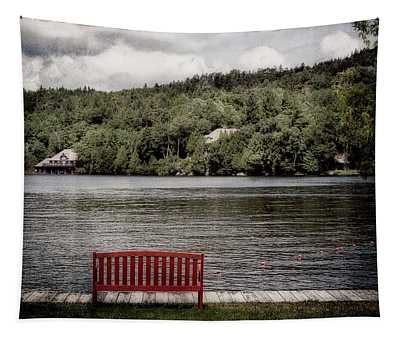 Red Bench Tapestry