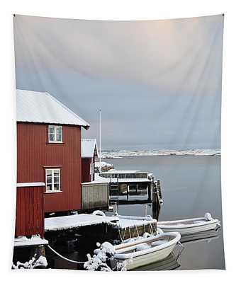 Boathouses Tapestry