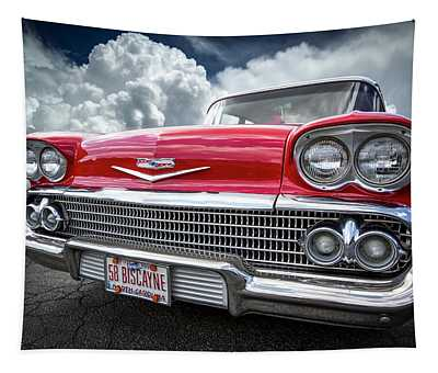 Red Chevrolet Biscayne 1958 Tapestry