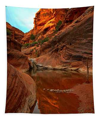 Red Cliffs Reflections Tapestry