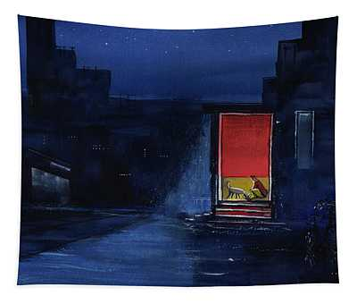 Red Curtain Tapestry