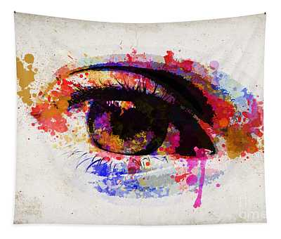 Red Eye Watercolor Tapestry