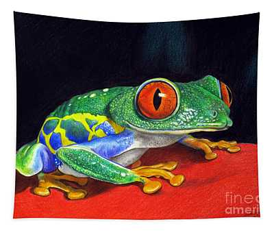 Red Eyed Tree Frog Tapestry